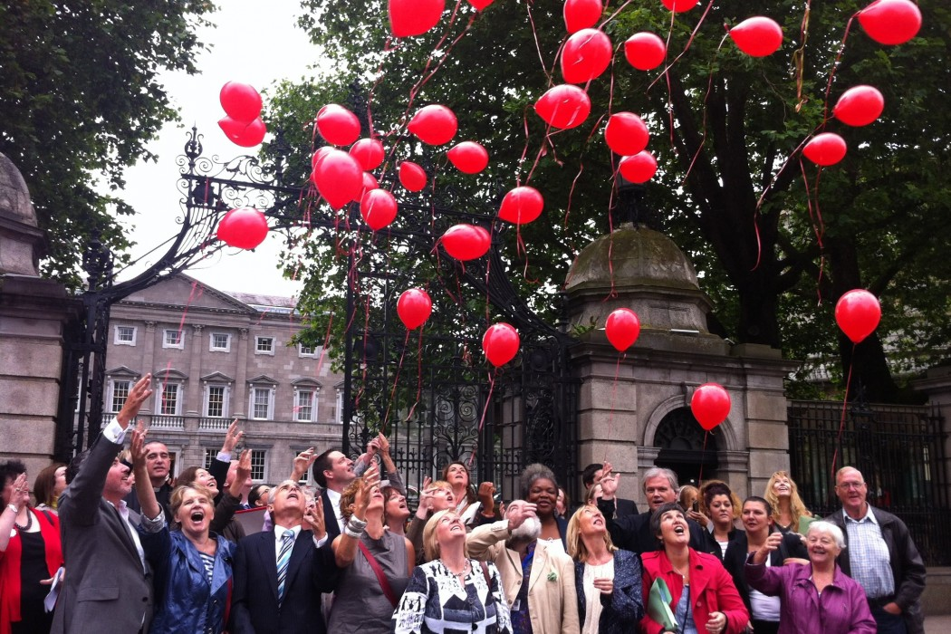 The launch of the Turn of the Red Light Campaign.